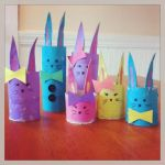 Cardboard Tube Bunny Family Craft