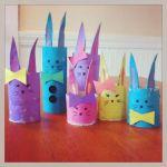 Cardboard Tube Bunny Family Craft