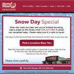 Kids Eat Free on Snow Days at the 99
