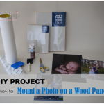 DIY Project:  How to Mount a Photo on a Wood Panel