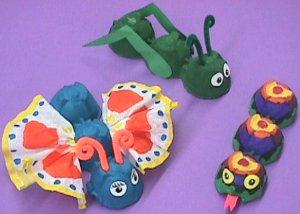 egg carton critters