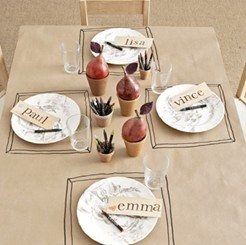 setting a fun thanksgiving table