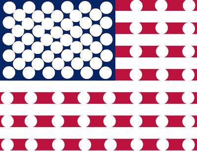flag do a dot printable