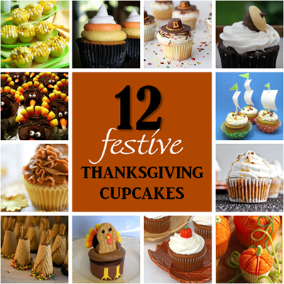 12 thanksgiving cupcakes