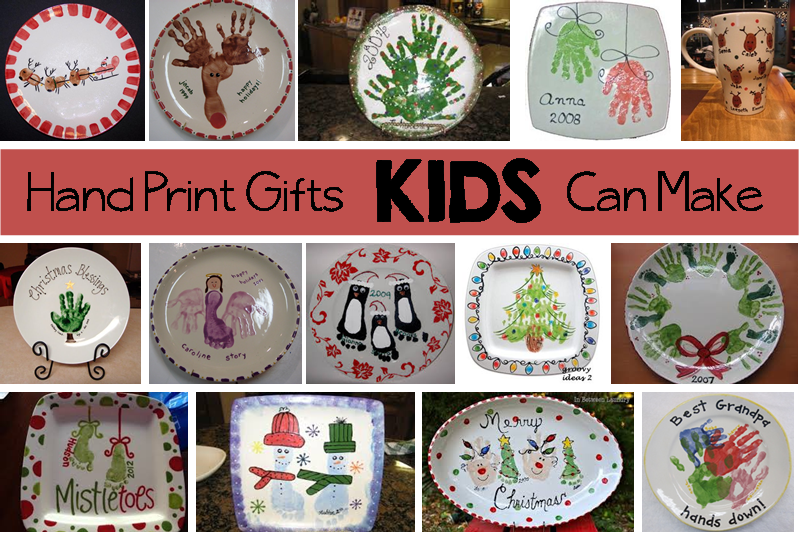 hand print gifts collage