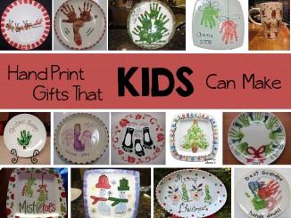 kids hand print gifts