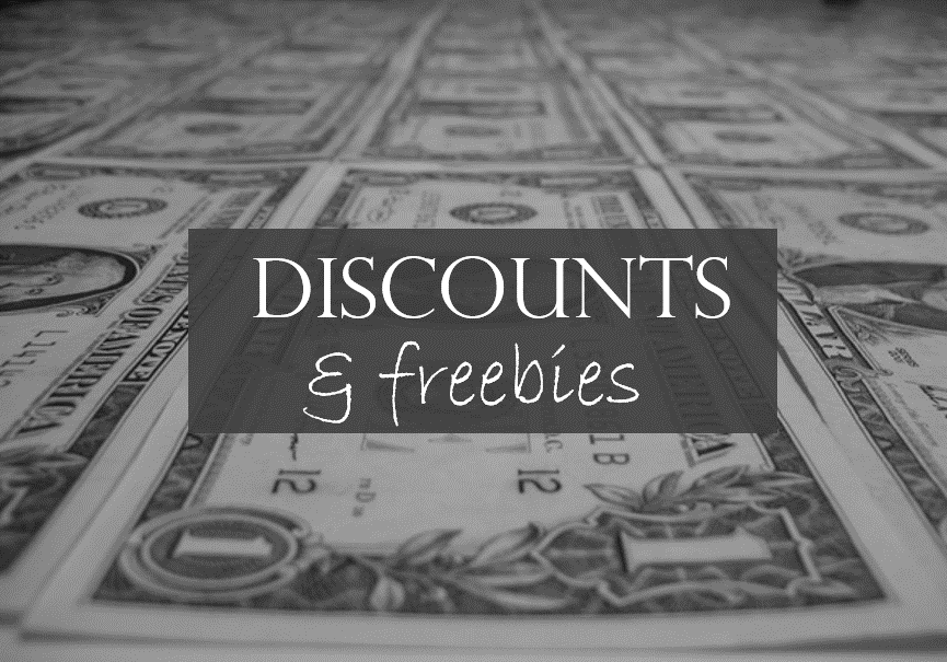 discounts and free