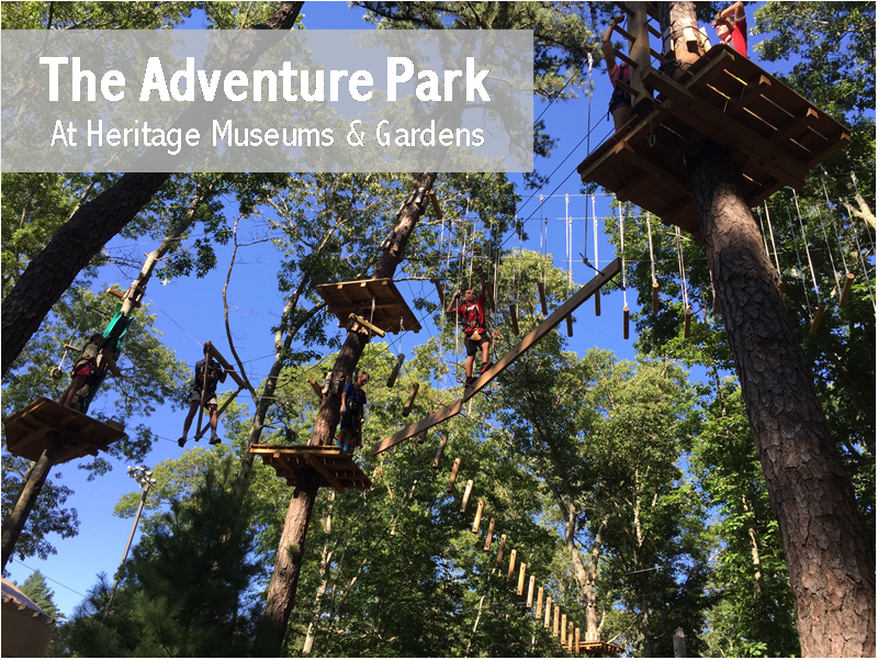 adventure park at heritage museums gardens south shore mamas