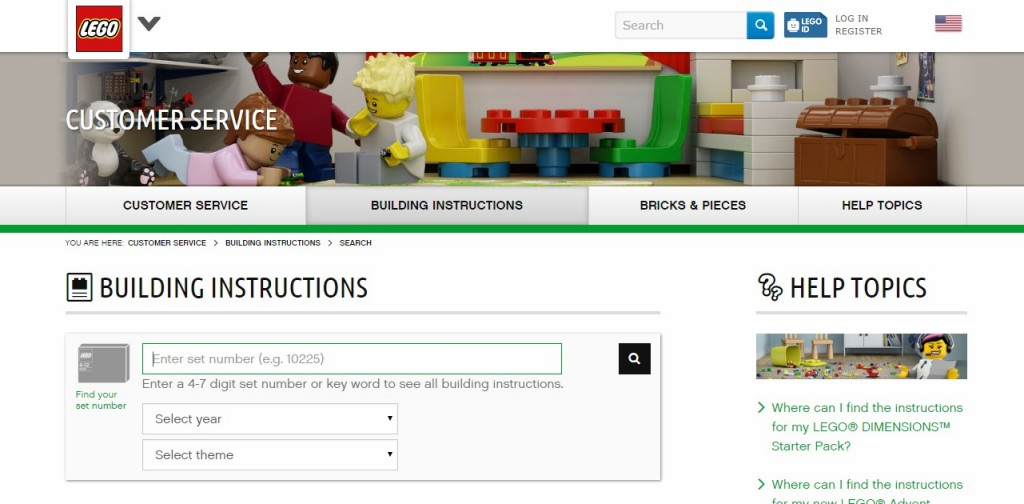 lego instructions url