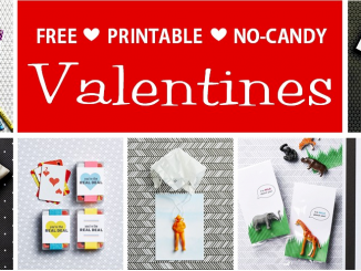 free printable no candy valentines