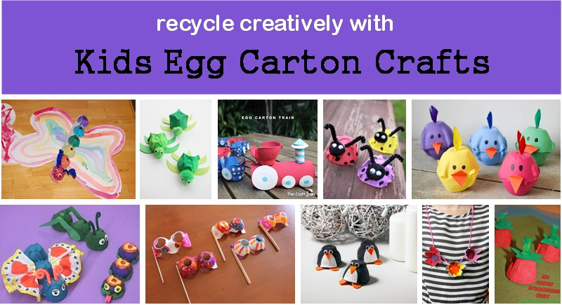 recycle with egg carton crafts