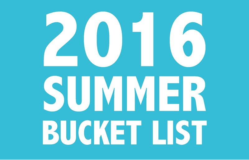 summer bucket list 2016 ssm