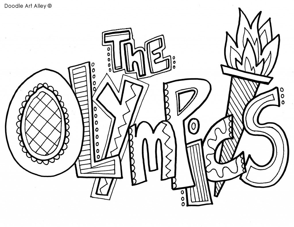 coloring pages olyimpics - photo#3