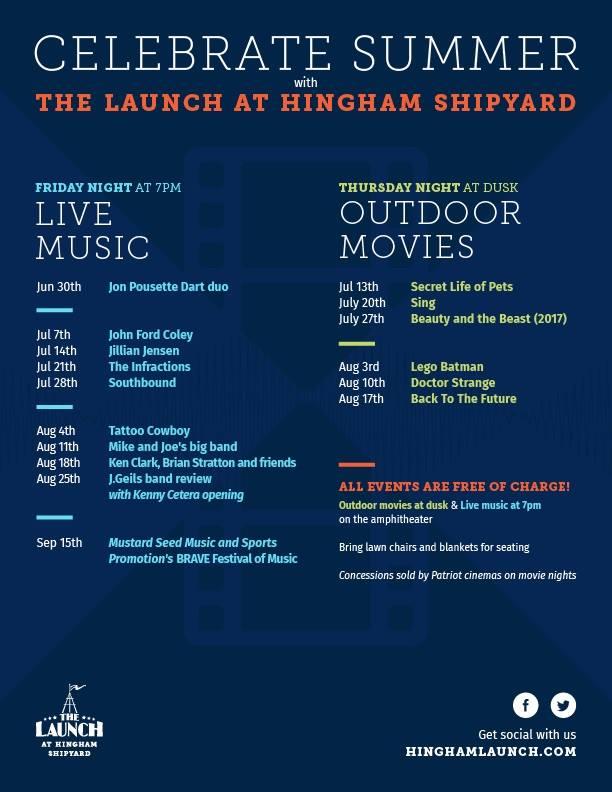 Live music at hingham shipyard south shore mamas for Hingham shipyard