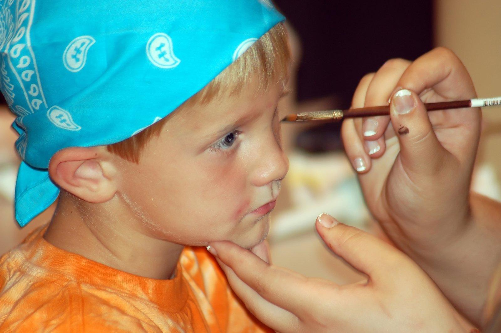 face paint boy